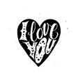 I Love you Typographic poster vector image vector image