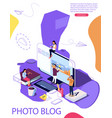 isometric concept education vector image vector image
