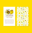 lemonade card template with space for text pure vector image vector image