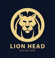 lion head logo circles design template vector image vector image