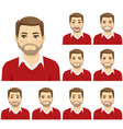 man emotion set vector image vector image