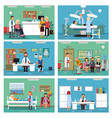 medical personnel at work nurse doctor and vector image vector image