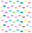 pattern of pastels color flat umbrellas on white vector image vector image