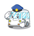 police ambulance character cartoon style vector image