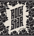 rock star - tattoo music poster or band label vector image vector image