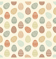 seamless pattern of colorful easter egg vector image vector image