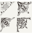 Set of four hogh ornate corners elements of design vector | Price: 1 Credit (USD $1)