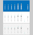 set of realistic medical syringes vector image