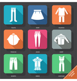 Set with clothes icons vector image vector image