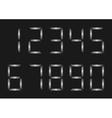 Silver Number set vector image