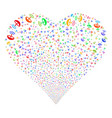space antenna fireworks heart vector image vector image