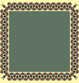 square frame with greek palmetta ornament ancient vector image vector image