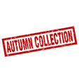 square grunge red autumn collection stamp vector image vector image