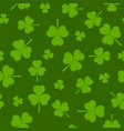 st patricks day seamless pattern with shamrock vector image