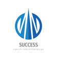 success - business logo concept design vector image vector image
