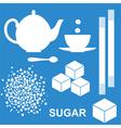 Sugar vector image