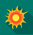 sun icon in outline style isolated on white vector image vector image