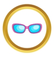 Sunglasses icon vector image vector image