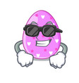 super cool cartoon shape easter color on eggs vector image