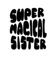 super magical lettering for banners posters vector image vector image