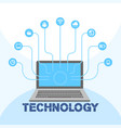 technology social icon media laptop background vec vector image