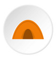 tent icon circle vector image vector image