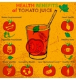 Tomato juice benefits vector image vector image