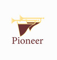 two pioneer horns vector image vector image
