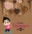 Valentines Day and Boyfriend Love Confess on Heart vector image vector image