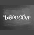 wednesday handwriting font calligraphy vector image vector image