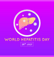 world hepatitis day icon design vector image vector image