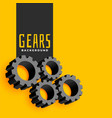 yellow background with gears symbols vector image vector image