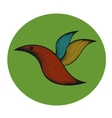 Abstract colorful bird vector image