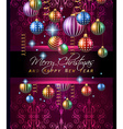 Christmas Vintage Classic Background with balls vector image