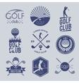 Golf club label vector image