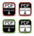 Four variants of buttons pdf vector image