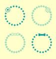 set of hand drawn wreaths hand drawn circular vector image