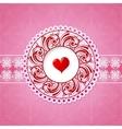 St Valentine greeting card design vector image