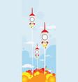 3 rocket shooting vector image vector image