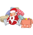 a Cute Santa Claus and Christmas vector image vector image