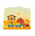agribusiness rural landscape farm and farmland vector image