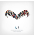air people sign 3d vector image
