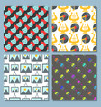 Art icons seamless pattern background atist ink
