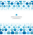 art of blue molecules abstract background vector image vector image