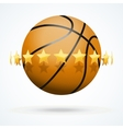 basketball ball with golden vector image vector image