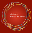 beautiful light circles on a red background vector image