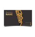 business card vintage decorative element im vector image