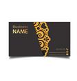 business card vintage decorative element im vector image vector image