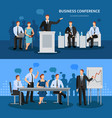 business conference banners set vector image vector image