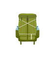camping backpack hiking rucksack icon vector image vector image